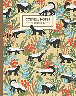 Cornell Notes Notebook: Honey Badgers in the Jungle - Journal Note Taking System - Gift Idea for School Students College University (8