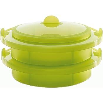 Lékué Vaporera Doble Verde 2 Niveles, Silicona, 22 cm: Amazon.es: Hogar