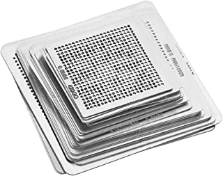 33PCS Universal High Precision BGA Reballing Stencils Rework Station, Steel Template Mesh Directly Heat Set Kit for iPhone CPU Repair Tools
