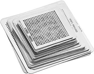 33PCS Universal High Precision BGA Reballing Stencils Rework Station Steel Template Mesh Directly Heat Set Kit for iPhone CPU Repair Tools