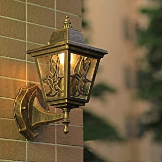 WYlucky الجدار تركيبات الإضاءة الخارجية فانوس الجدار مصابيح الديكور حديقة شرفة الإضاءة في الهواء الطلق مصباح قاري LED حديق...
