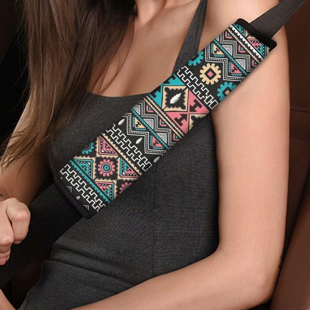 AFPANQZ 2pcs Boho Seat Belt Pads Covers Universal Fit for Truck Vans Sedans SUVs Safety Seatbelt Pad Cushion Comfortable Driving Car Seats Accessories One Pair Bohemian Style Floral