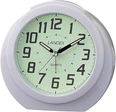 ランデックス(Landex) 目覚まし時計 アナログ レグルススター 蓄光文字盤 ホワイト YT5244WH