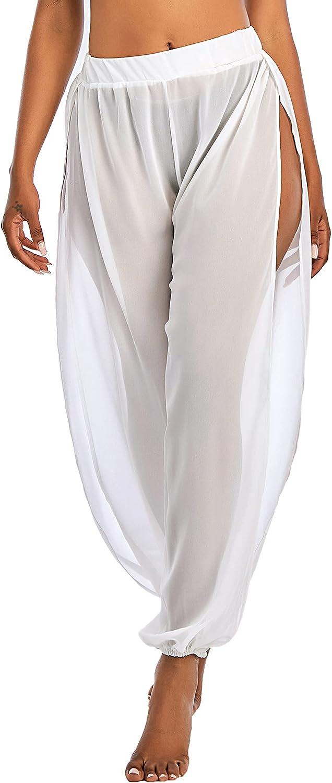 American Trends Womens Cover Ups for Swimwear Sheer Mesh Pants High Waist Beach Swimsuit Bikini Bottom Cover up Pant