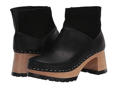 Swedish Hasbeens Slip-On Bootie (Black) Women