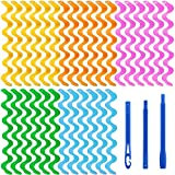 Aodaer 30 Pieces Water Ripple Hair Rollers 45...