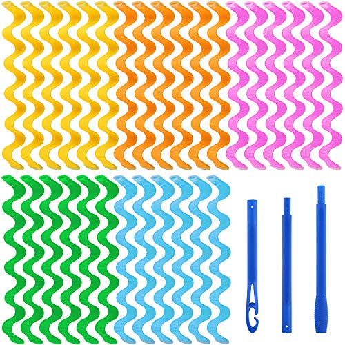 Aodaer 30 Pieces Water Ripple Hair Rollers No Heat Wave Hair Curlers...