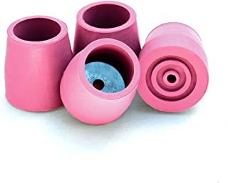 Top Glides Steel-Reinforced Walker Glide Tips (Pink, 1 1/8
