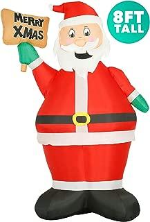 inflatable santa on roof