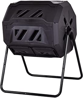 USA_BEST_SELLER 43-Gallon Garden Waste Bin Grass Composter Durable PP Material and Steel Pipe