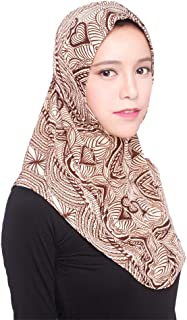 B2keevin Muslim Shaila Women Inner Hijab Headscarf Cap Islamic Full Cover Islamic Hat