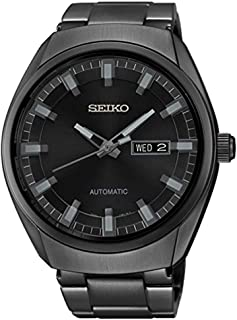 Seiko Men's Black Ion Finish Automatic Date Calendar Watch