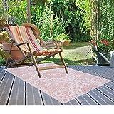 JEMIDI Terrassenteppich Außenteppich Balkonteppich Teppich Garten Außen Outdoor Läufer 180cm x 120cm (Blau) - 6