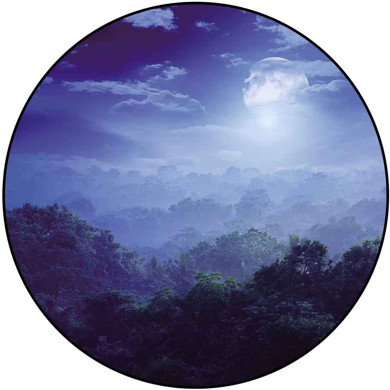 Classic Pattern Round Rug Moonlight of Jungles Covers Lanka Portland Mall Financial sales sale Sri