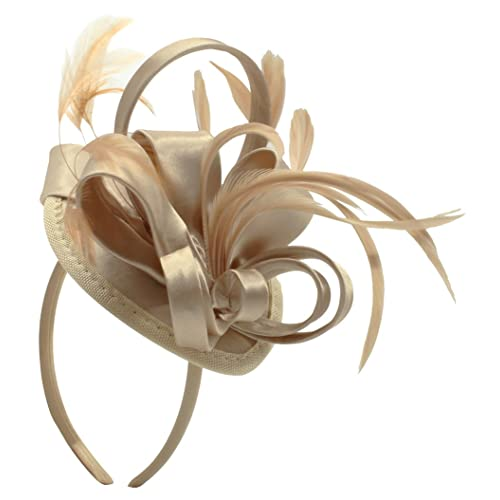 Felizhouse Satin Feather Fascinator Hats Headband for Women 239e6993eed