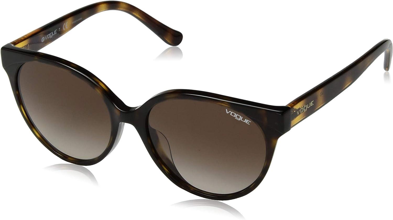 VOGUE Women's 0vo5246sf Round Sunglasses, Dark Havana, 54.0 mm