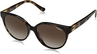 VOGUE Women's 0vo5246sf Round Sunglasses dark havana 54.0 mm