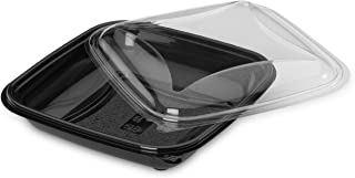 GUILLIN CR0750N Pack of 280 Food Black Boxes 750cc with independent anti-condensation Lids, Plastic, Black, 19 x 19 x 5,5 cm