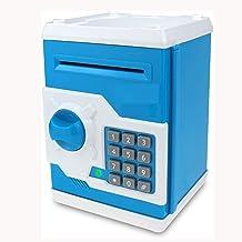 Saving Box ATM Bank Safe Machine Cash Coin Kids Birthday Toy for Children Blue