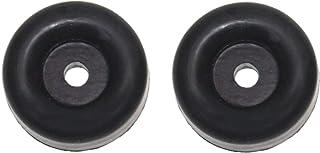 JSP Manufacturing Cargo Trailer Ramp Door Replacement Black Rubber Bumper (2)