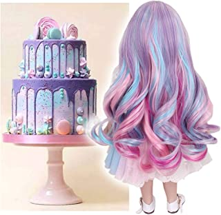 STfantasy Doll Wig for 18 Inches American Girl Doll AG OG Journey Girls Gotz My Life Ombre Curly Synthetic Hair Lolita Girls Gift