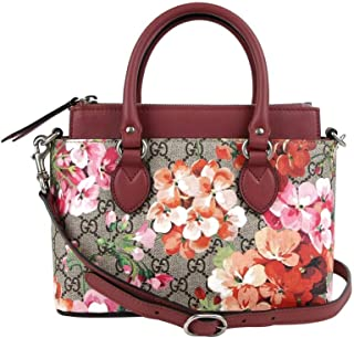 Women's Beige/Pink Bloom GG Supreme Coated Canvas Small Crossbody Bag 453177 8693