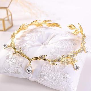 Luxury Crystal Crown Bridal Hair Accessories Wedding Rhinestone Waterdrop Leaf Tiara Crown Headband Frontlet Brides Hair Jewelry|Hair Jewelry|Jewelry & Accessories