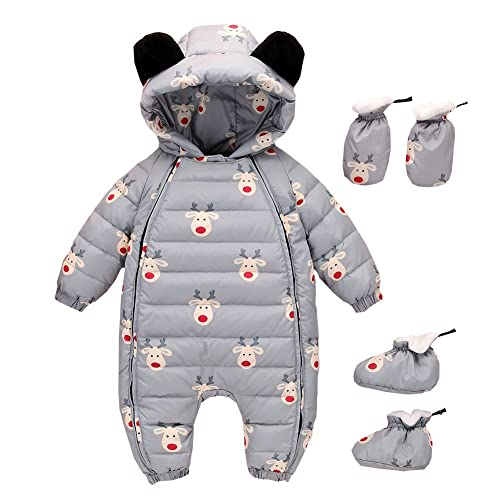 6f71599d86ca0 LPATTERN Newborn Baby Girls Boys Warm Rompers Winter Infant Bodysuits All  in one Snowsuit Outfit One