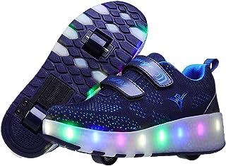 Zapatos con Ruedas Zapatillas con Dos Ruedas para niños y niña Led Luces Zapatillas con Ruedas Se Puede Bambas con Ruedas ...
