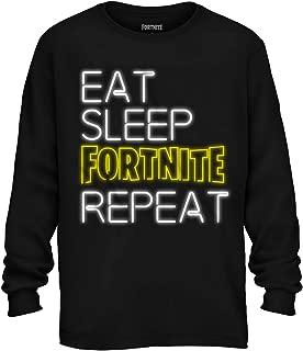 Fortnite Shirt Boys' Eat Sleep Fortnite Repeat Neon Long Sleeve T-Shirt