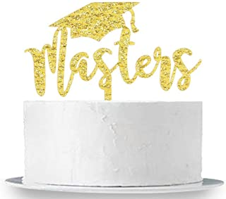 Masters Cake Topper Congrats Grad Cake Topper,2020 Graduation,Class of 2019 2020 Party Decorations Supplies