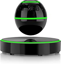 Levitating Bluetooth Speaker, UPPEL Floating Portable Bluetooth Speaker with Bluetooth 4.1, 360 Degree Rotation, Touch Control Button and Colorful Led Flashing Show Magnetic [Black]
