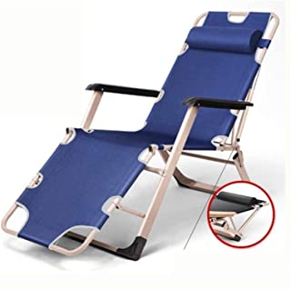 Recliner Adjustable Lounge Chair Chaise, with headrest Armrest Lounger Chair Recliner Nap Bed Back Chair Outdoor Patio Gar...