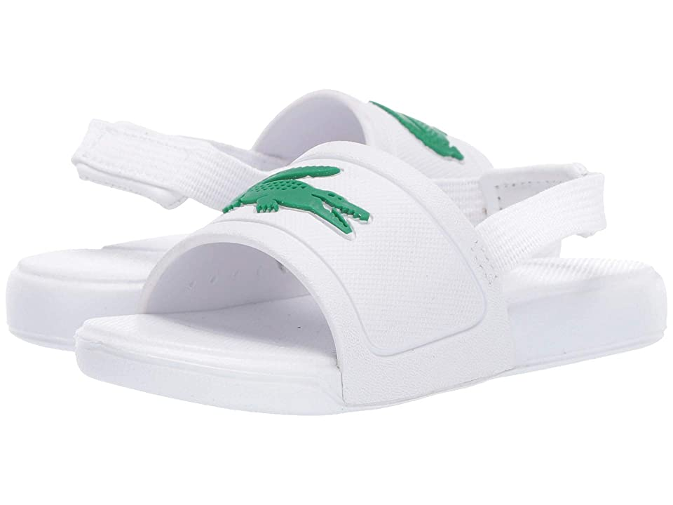 Lacoste Kids L.30 Slide 119 2 CUI (Toddler) (White/Green) Kid