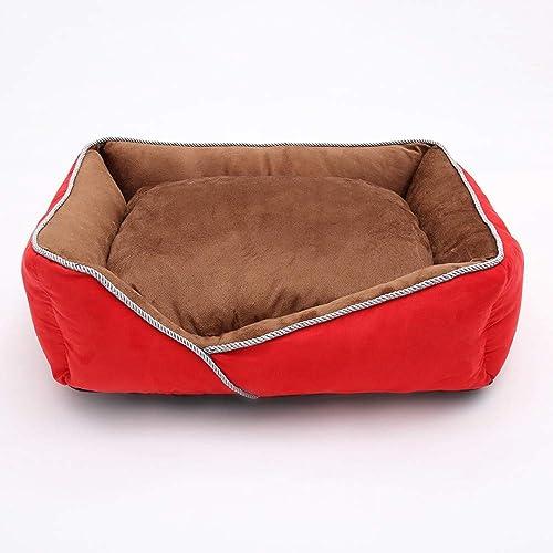 bienvenido a elegir Perrera perros pequeños y medianos invierno cálido rojo rojo rojo de peluche gato rojo arena para el invierno suministros para mascotas nido profundo para dormir perno extraíble y lavable perrera rojo 65x55cm  venta con alto descuento