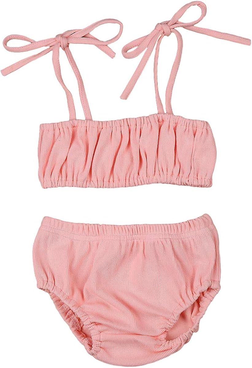 Headband Summer Clothes Set 0-24M Infant Baby Girls 3Pcs Sleeveless T-Shirt Crop Top Stripe Shorts