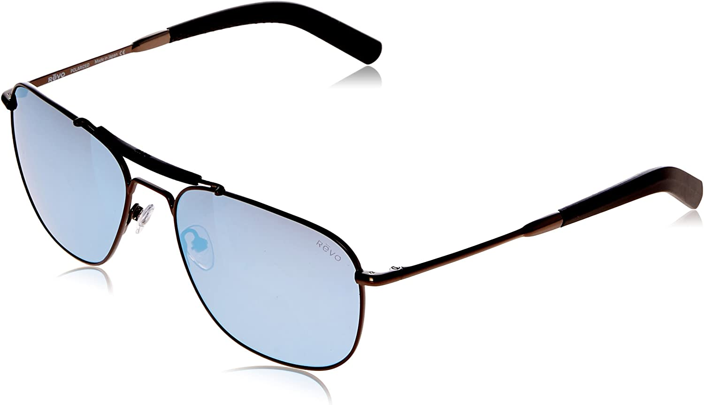 Revo Re 1067 Pierson Polarized Aviator Sunglasses, Gunmetal, 59 mm