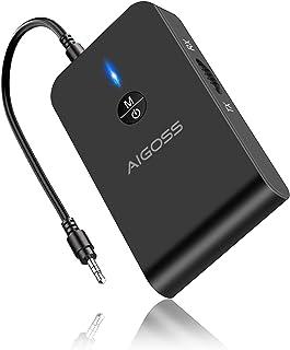 comprar comparacion Aigoss Adaptador Bluetooth V5.0 Transmisor y Receptor 2-en-1 Jack 3,5 mm Receptor Audio Música Baja Latencia en Modo RX TX...