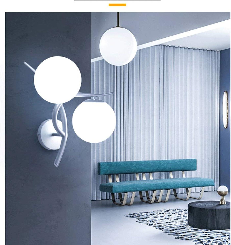 XYZS Wandlampe Moderne minimalistische kreative Schlafzimmerwandlampe-Wohnzimmerbalkontreppenwand-Doppelganglichter der Wandlampe Nachttischlampe (Farbe   Silber)