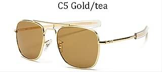MDZZ SunglassesVintage fashion Aviation AO Sunglasses Men luxury Brand Designer Sun Glasses For Male American Army Military Optical Glass Lens 8054 C5