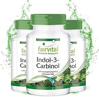 Indol-3-Carbinol - VEGANO - I3C + Brócoli en polvo - Dosis elevada - 180 Cápsulas (60 Cápsulas x 3) - Calidad Alemana