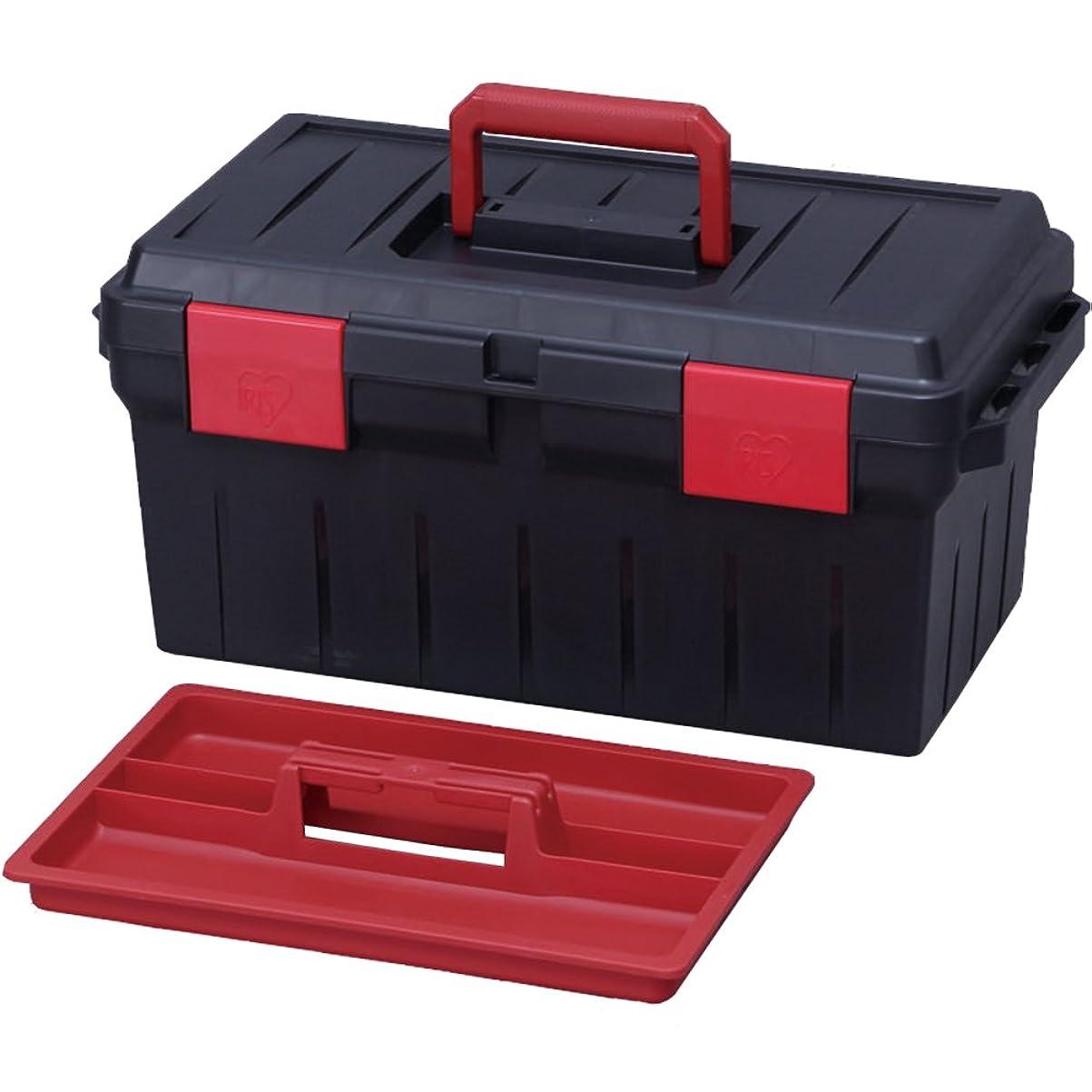 またね投資する差別アイリスオーヤマ 工具箱 ツールケース500 ダークグレー/レッド
