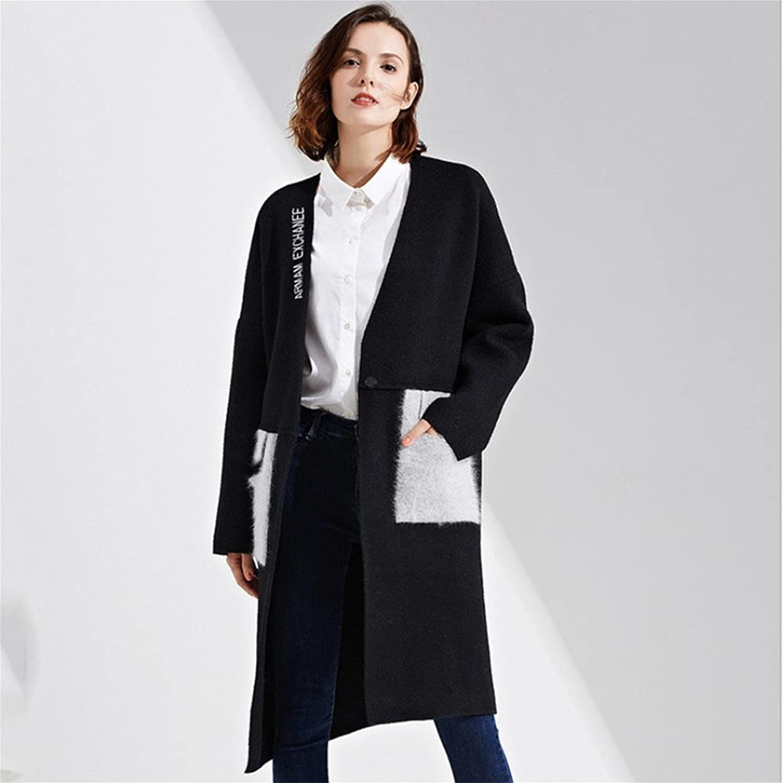 SISHUINIANHUA Sweater sweater coat. Loose V-neck long-sleeved shirt. Cardigan coat