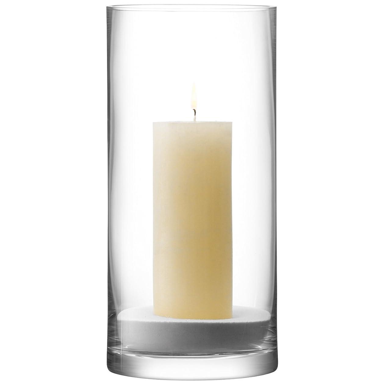 ライド信仰ソビエトLSA COLUMN フラワーベース(花器)/キャンドルホルダー 高さ36 x ?17cm クリアー  TLA0056