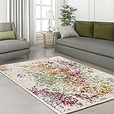 carpetcity Designer Modern Alfombra Classic Ornament farbklex Crema Verde Turquesa...