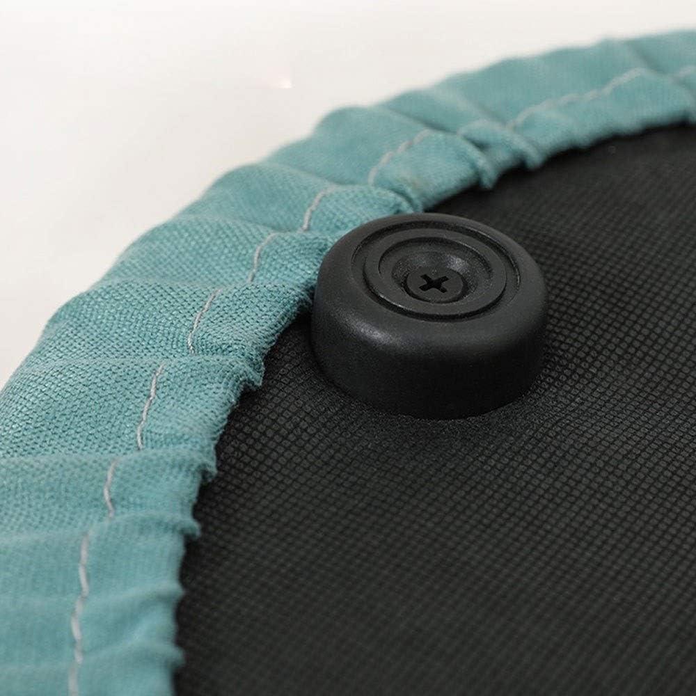 YUMUO Canapé Tabouret Tabouret d'entrée Tabouret de ménage à Langer Tabouret Rond de Salon en Tissu F1229 (Couleur: Bleu) 1