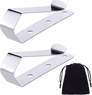 Canomo Pack of 2 Remote Visor Clips Replacement for Garage Door Remote Openers, Silver