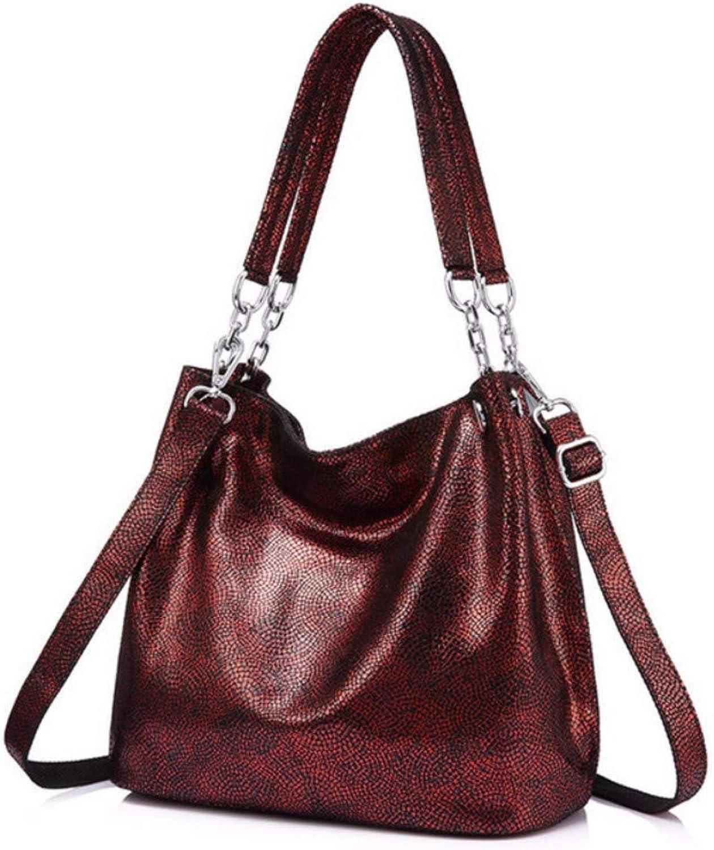 JQSM Leather Handbags Female Large Messenger Bag Women Shoulder Bags Fashion Ladies top-Handle Bags Totes