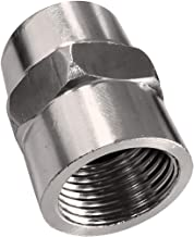 Metal Stainless Steel Pipe Fitting, Coupling, NPT 1/2 x NPT 1/2 Inch Female Pipe 2 Pack
