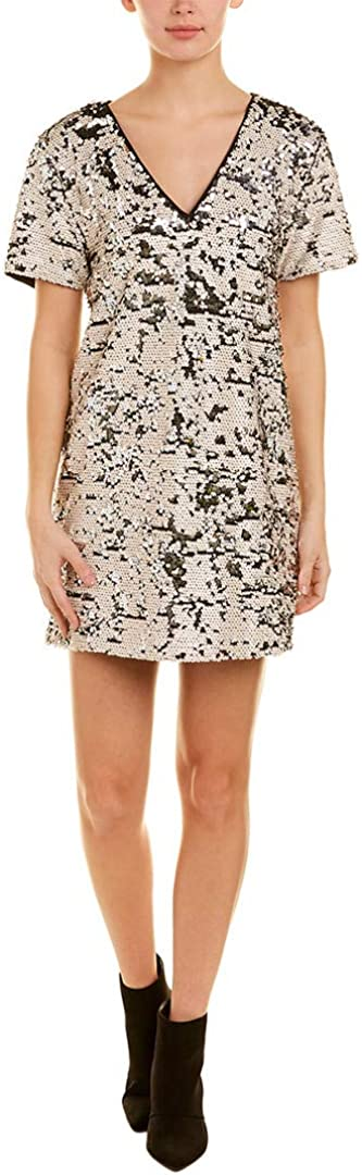 1.STATE Womens Sequined Shift Dress